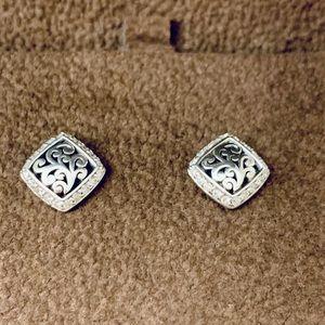 Lois hill sterling silver diamond post earrings